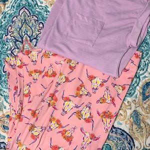 Final Price! Simply Southern Capri leggings &top